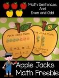 Apple Jacks Math Freebie