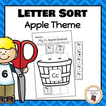 Apple Letter Sorting Worksheets