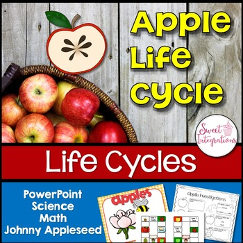 Apple Life Cycle: Powerpoint, Science, Math and Literacy