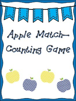 Apple Match Counting Game Freebie