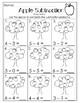 Apple Math. Addition and Subtration. PreK/Kindergarten/Fir