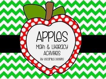 Apple Math & Literacy Activities for PK/K