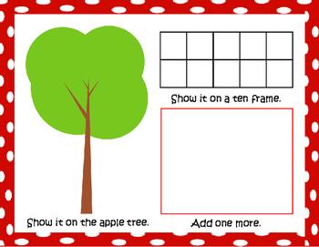 Apple Math Playdough Mats