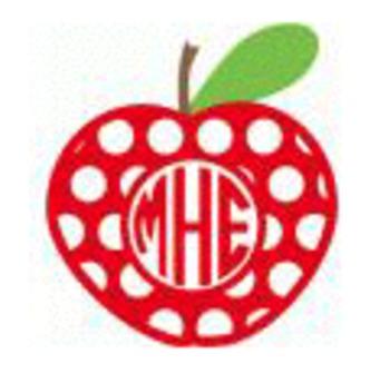Apple Monogram Decal
