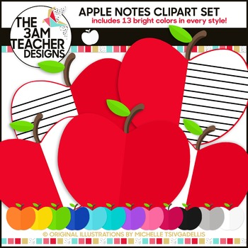 Apple Notes Clipart Set
