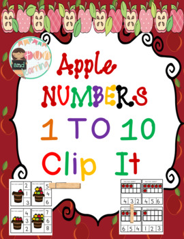 Apple Number  Clothespin Math Center
