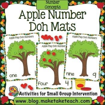 Apple Number Doh Mats