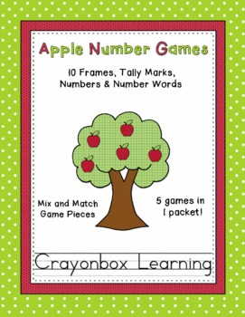 Apple Number Games Pack - 10 Frames - 0-20 - Learning Centers