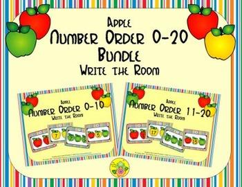 Apple Number Order 0-20 Bundle