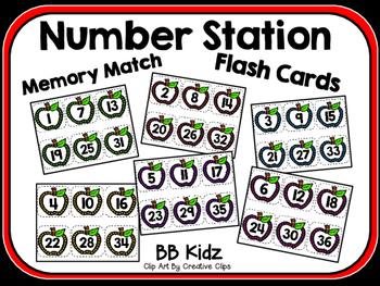 Apple  Number Order Station / Memory Match