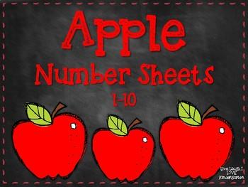 Apple Number Sheets