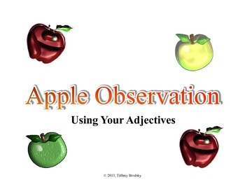 Apple Observation Adjectives