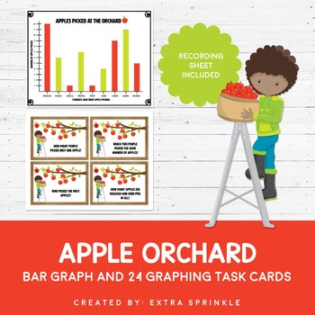 Apple Orchard Bar Graph Task Cards