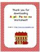 Apple Patterns Worksheet (color, cut, paste)