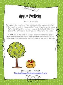 Apple Picking-Number Sense 0-10