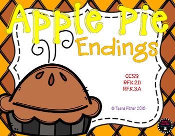 Apple Pie Endings Thanksgiving Fall File Folder Game Center
