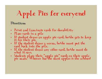 Apple Pie Game (articulation game)