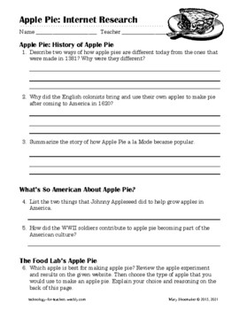 Apple Pie: Internet Research