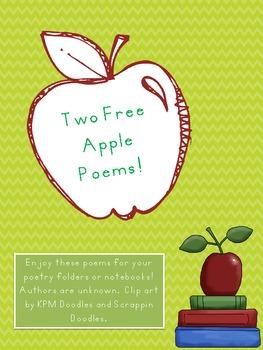 Apple Poems {2 Freebies!}