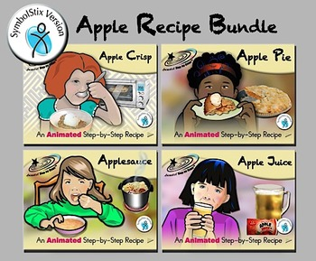 Apple Recipes Bundle - Animated Step-by-Step Recipes SymbolStix