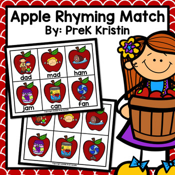 Apple Rhyming Match Game