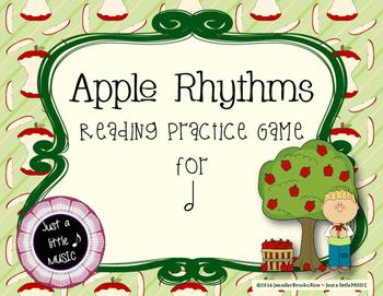 Apple Rhythms - Interactive Reading Practice Game {ta ah}