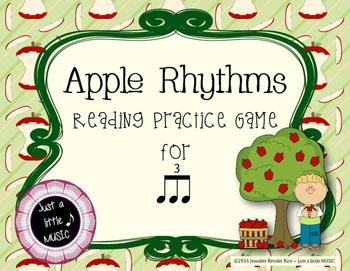 Apple Rhythms - Interactive Reading Practice Game {triple ti}