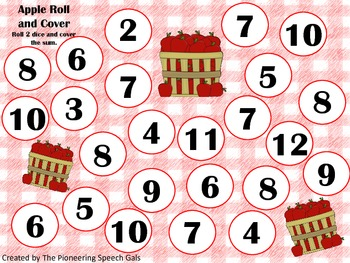 Apple Roll and Cover {An open ended activity}