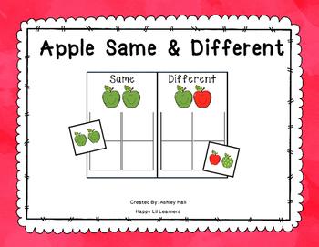 Apple Same/Different Activity