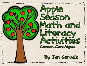 Apple Season Math and Literacy Activities Common-Core Aligned