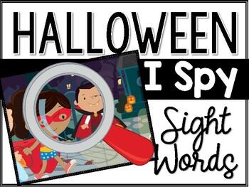 Halloween I Spy Sight Words
