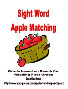 Apple Sight Word Matching