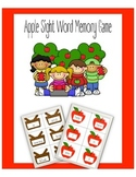 Apple Sight Word Memory