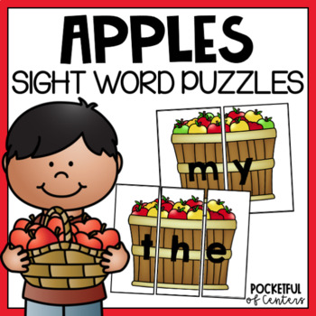Apple Sight Word Puzzles