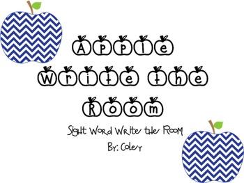 Apple Sight Word Write the Room