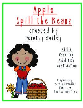 Apple Spill the Beans Math Center
