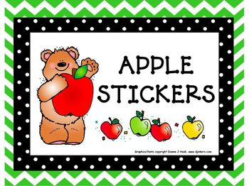 Begin the Year: Apple Stickers