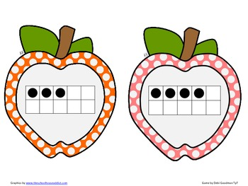 Apple Ten Frames Read the Room 1-10 or 11-20 or 1-20
