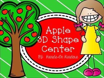 Apple Theme 3D Shape Center