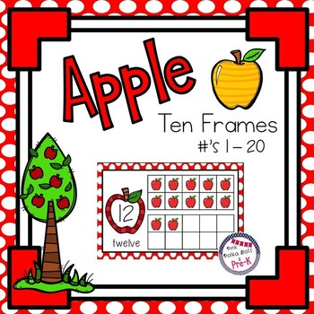 Apple Theme 10 Frames (1 - 20) ~ Complete & Blank Sets