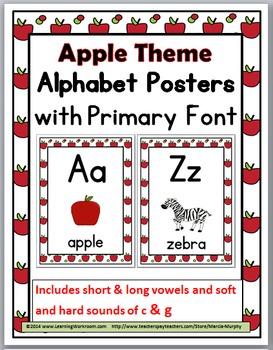 Apple Theme  Alphabet Posters - Alphabet Cards