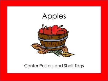 Apple Theme: Shelf Posters and Center Tags