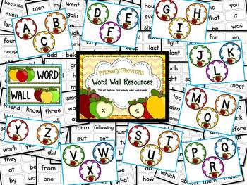 Apple Theme Word Wall Resources