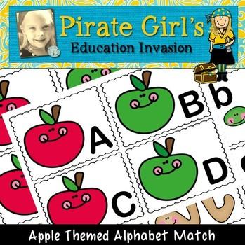 Apple Themed Alphabet Match