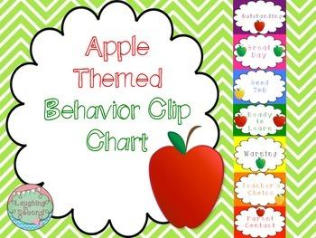 Apple Themed Behavior Clip Chart