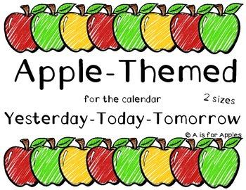 Apple Themed Calendar Yesterday-Today-Tomorrow {FREEBIE}