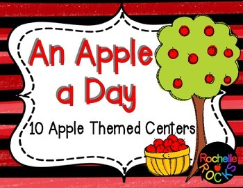 Apple Themed Centers ELA and Math
