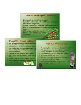 Apple Themed Classroom Management Plan-Procedures Only