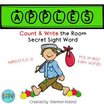Count the Room & Write the room for Kinder