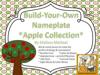 Apple Themed Desktag Nameplate Collection - Build Your Own!